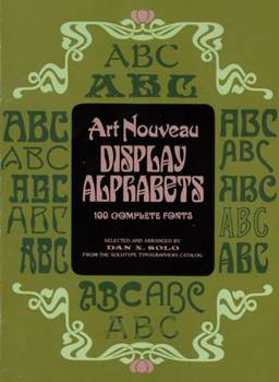 Art Nouveau Display Alphabets