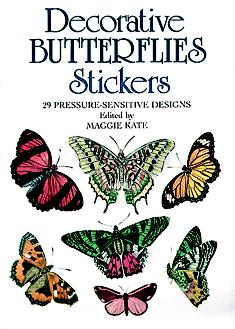Decorative Butterflies Stickers: 29 Pressure-Sensitive Designs