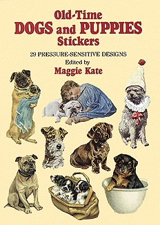 Old-Time Dogs and Puppies Stickers: 29 Pressure-Sensitive Designs