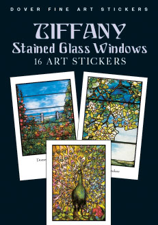 Tiffany Stained Glass Windows: 16 Art Stickers