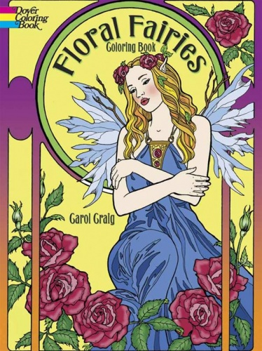 Floral Fairies Coloring Book