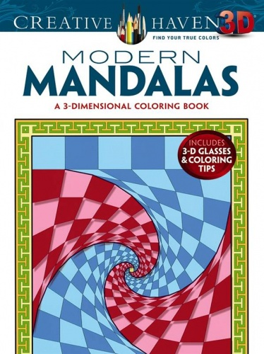 Creative Haven 3-D Modern Mandalas Coloring Book