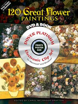 120 Great Flower Paintings Platinum DVD and Book