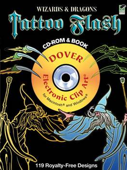 Wizards and Dragons Tattoo Flash CD-ROM and Book