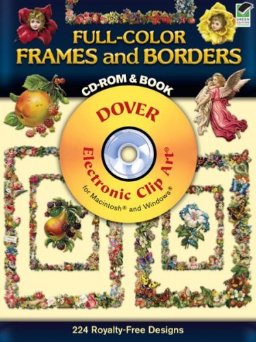 Full Colour Frames and Borders CD Rom and Book
