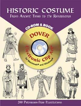Historic Costume CD-ROM and Book - From Ancient Times to the Renaissance