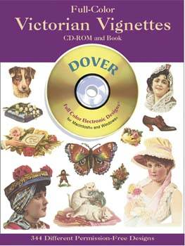 Full Colour Victorian Vignettes CD-ROM And Book