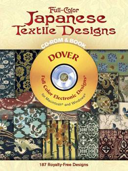 Full-Color Japanese Textile Designs CD-ROM and Book