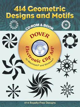 414 Geometric Designs and Motifs CD-ROM and Book