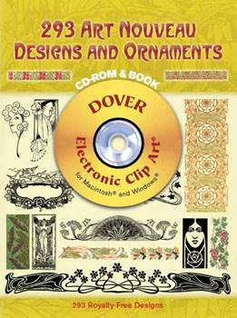 293 Art Nouveau Designs and Ornaments CD-ROM and Book