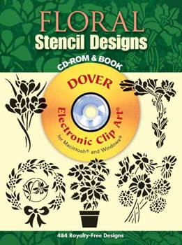 Floral Stencil Designs CD ROM and Book