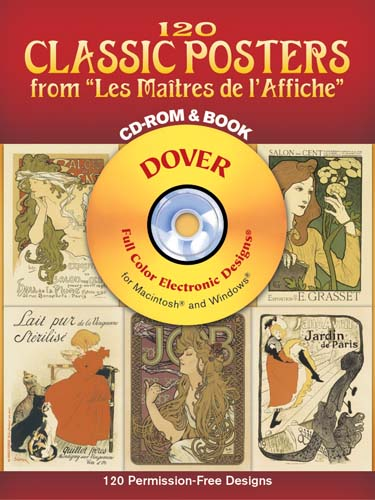 120 Classic Posters from Les Maitres de lAffiche CD-ROM and Book