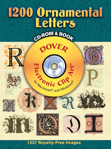 1200 Ornamental Letters CD ROM and Book