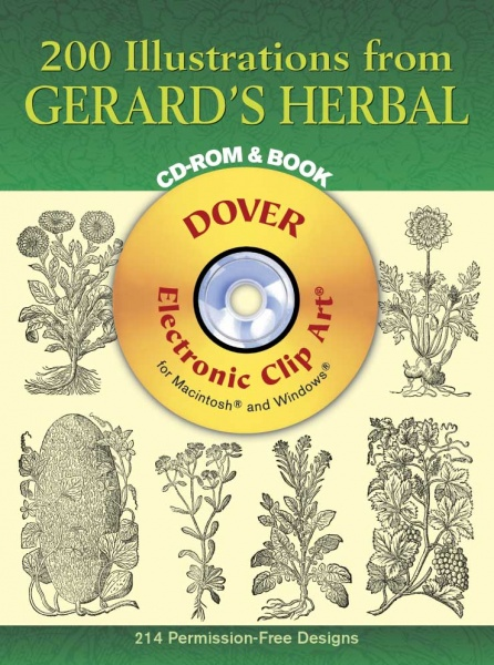 200 Illustrations from Gerards Herbal CD-ROM and Book
