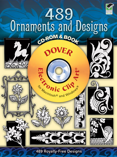 489 Ornaments and Designs CD-ROM and Book