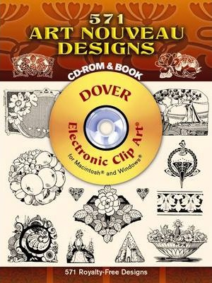 571 Art Nouveau Designs CD-Rom and Book