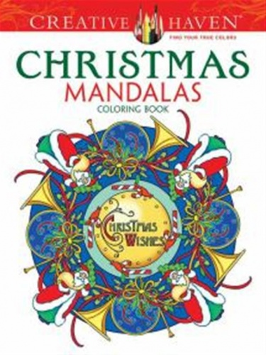Creative Haven Christmas Mandalas Coloring Book