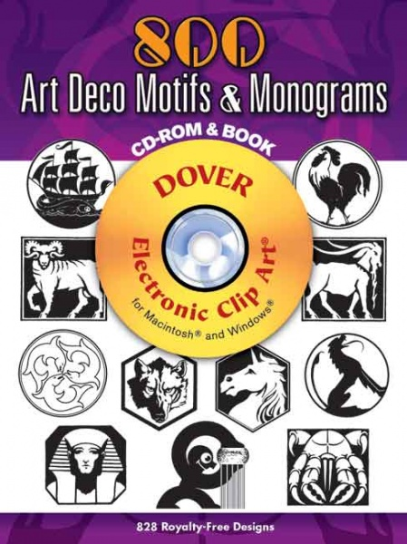 800 Art Deco Motifs and Monograms CD ROM and Book