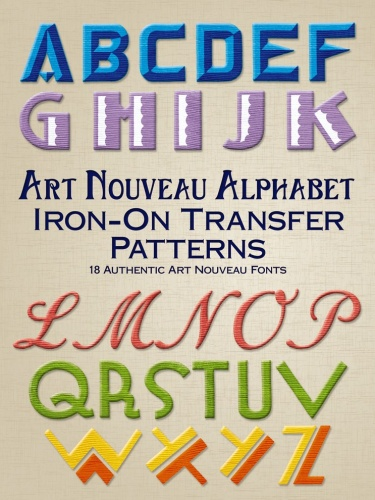 Art Nouveau Alphabet Iron-On Transfer Patterns