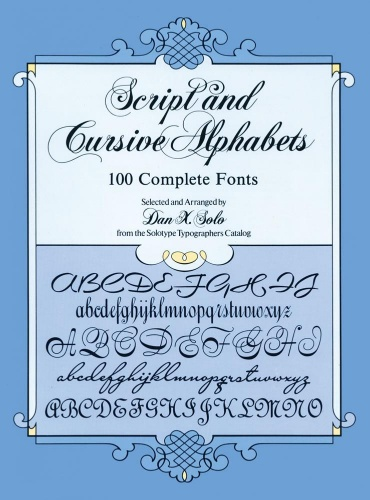 Script and Cursive Alphabets - 100 Complete Fonts
