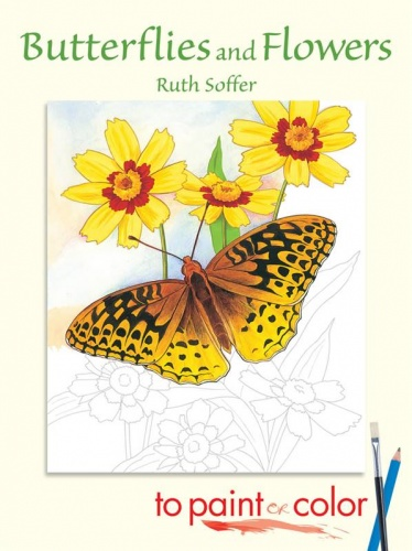 Butterflies and Flowers to Paint or Colour