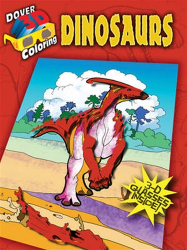 3-D Coloring Book - Dinosaurs
