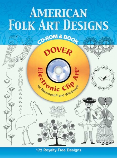 American Folk Art Designs CD ROM and Book