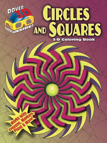 3-D Coloring Book - Circles and Squares
