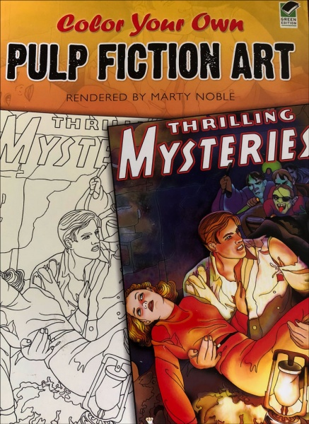 Color Your Own Pulp Fiction Art