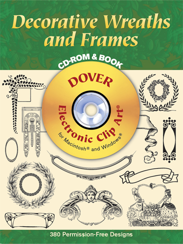 Decorative Wreaths and Frames CD-Rom and Book