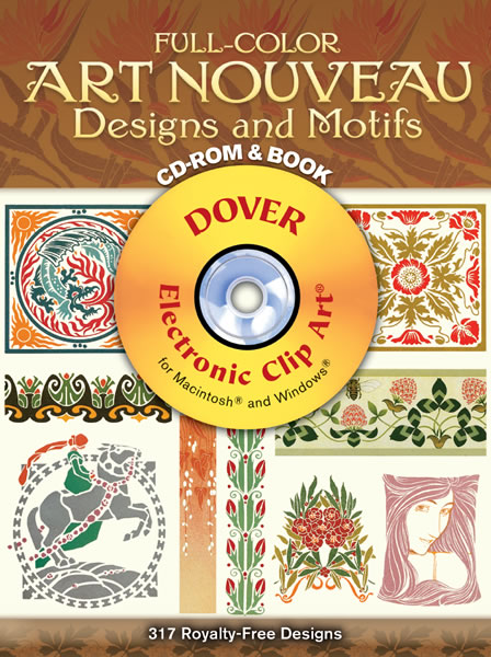 Full Colour Art Nouveau Designs And Motifs