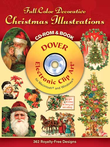 Full-Colour Decorative Christmas Illustrations CD-ROM and Book