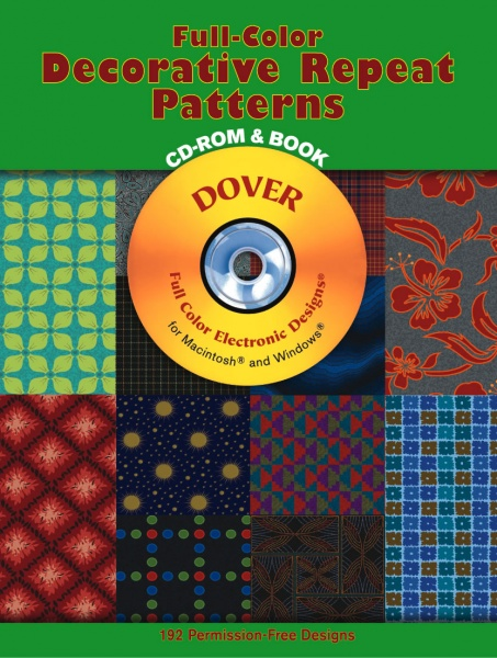 Full-Color Decorative Repeat Patterns CD-ROM and Book