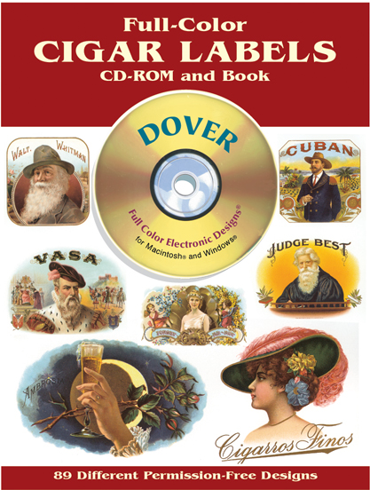 Full-Color Cigar Labels CD-ROM and Book