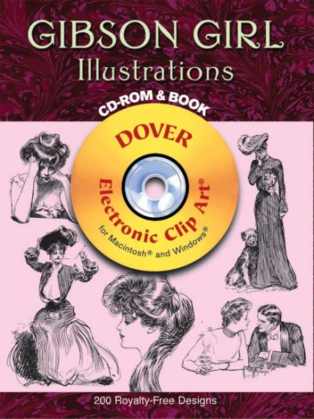 Gibson Girl Illustrations CD-ROM and Book