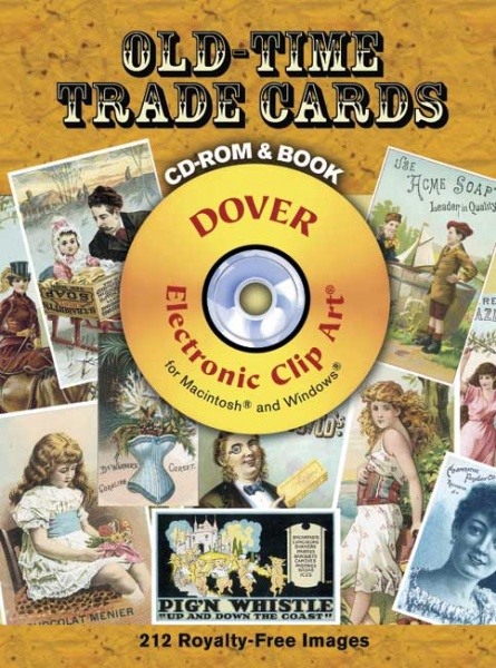 Old Time Trade Cards CD ROM and Book