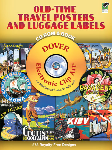 Old-Time Travel Posters and Luggage Labels CD-ROM and Book