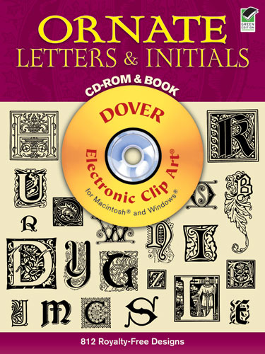 Ornate Letters And Initials CD-Rom And Book