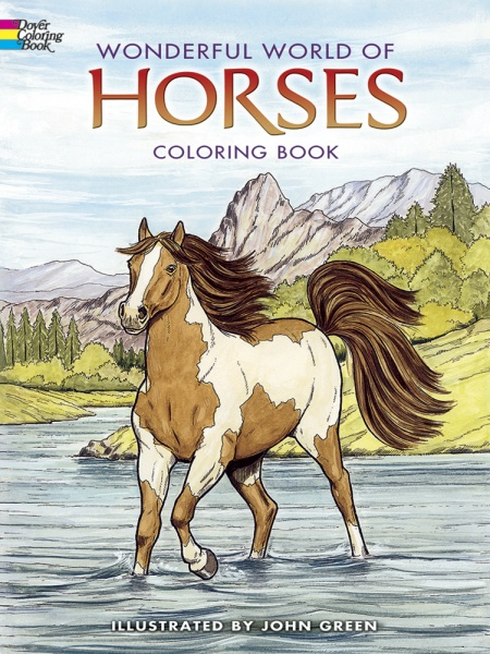 Wonderful World Horses Coloring Book