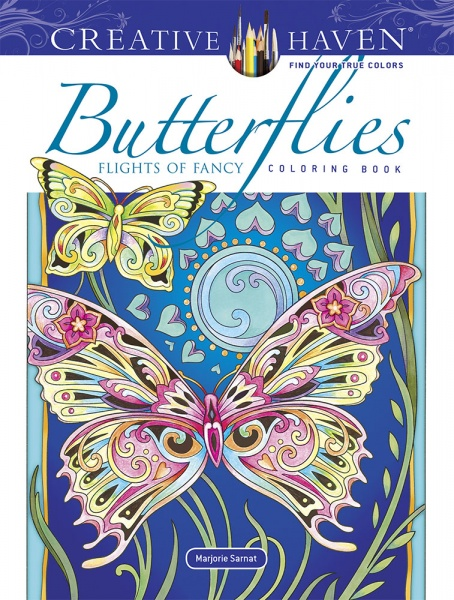 Creative Haven Butterflies Flights of Fancy Coloring Book