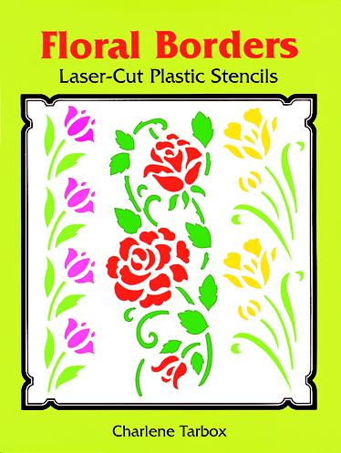 Easy-to-Use Floral Borders Plastic Stencils