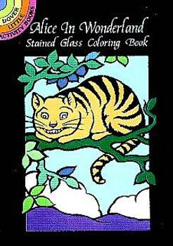 Alice in Wonderland Stained Glass Coloring Book