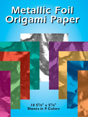 Metallic Foil Origami Paper: 18 5-7/8 x 5-7/8 Sheets in 9 Colors
