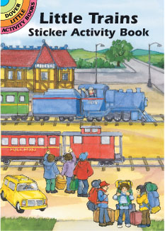 Little Trains Sticker Activity Bk