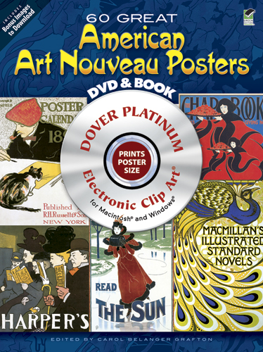 60 Great American Art Nouveau Posters Platinum DVD and Book