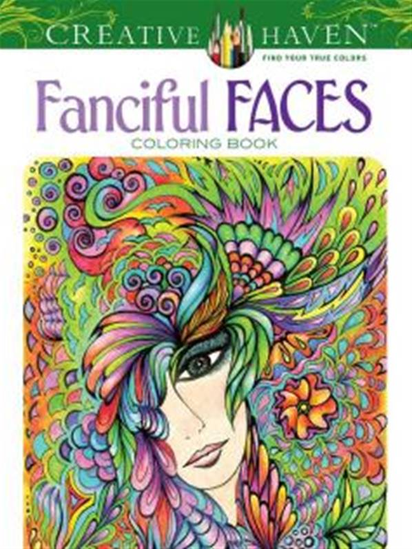 Creative Haven Fanciful Faces Coloring Book