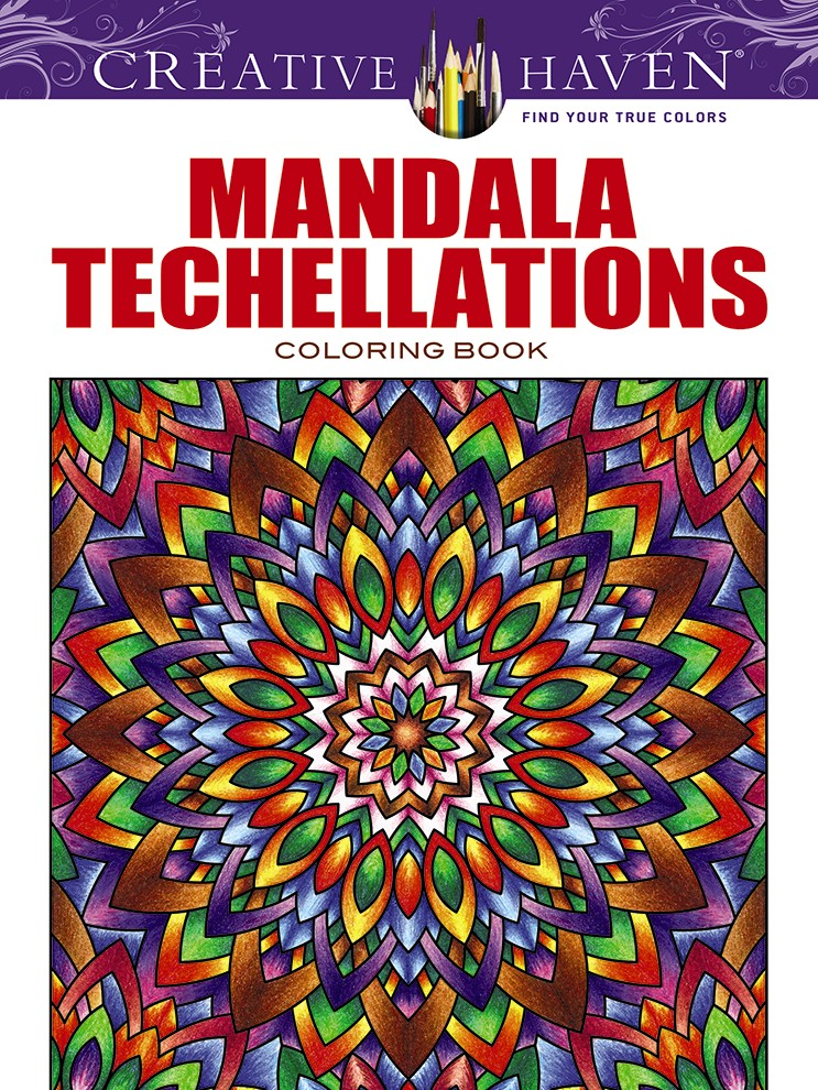 Creative Haven Mandala Techellations Coloring Book