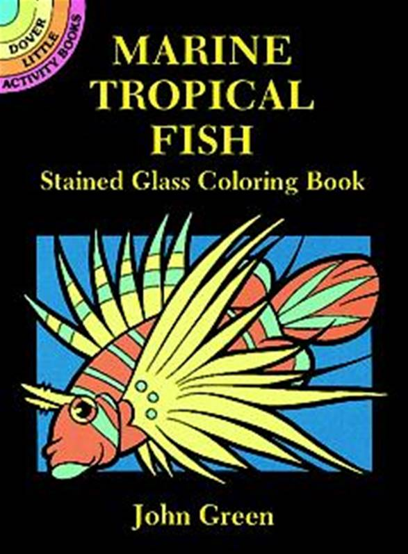 Marine Tropical Fish Stained Glass Colouring Book