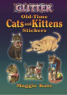 Glitter Old-Time Cats and Kittens Stickers