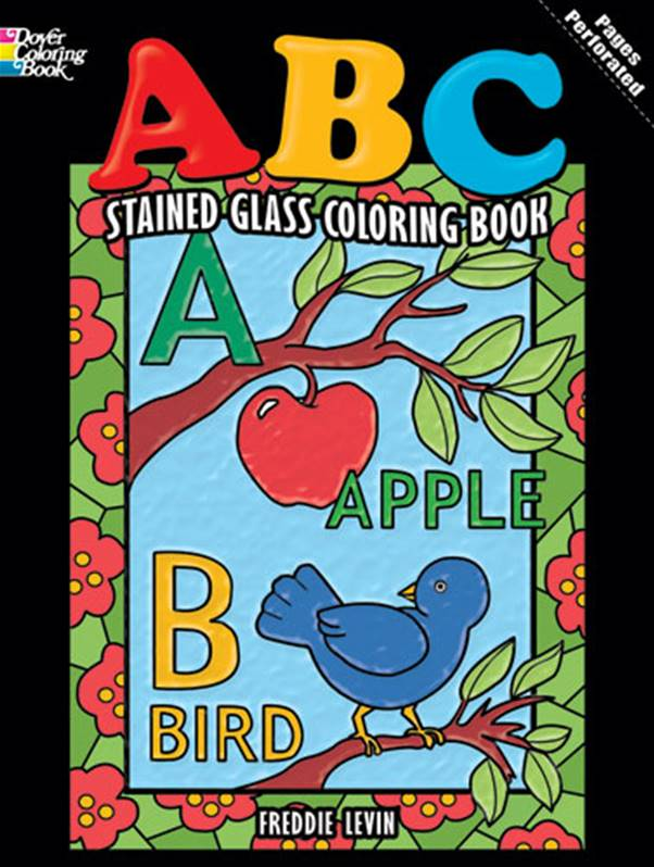ABC Stained Glass Coloring Book
